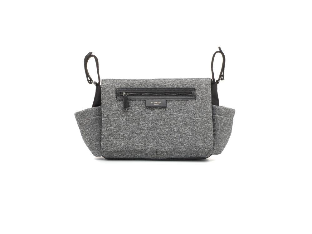 Image of Storksak Stroller Organiser Luxe Grey (6136a135-ed70-47c0-9be9-414d87948232)
