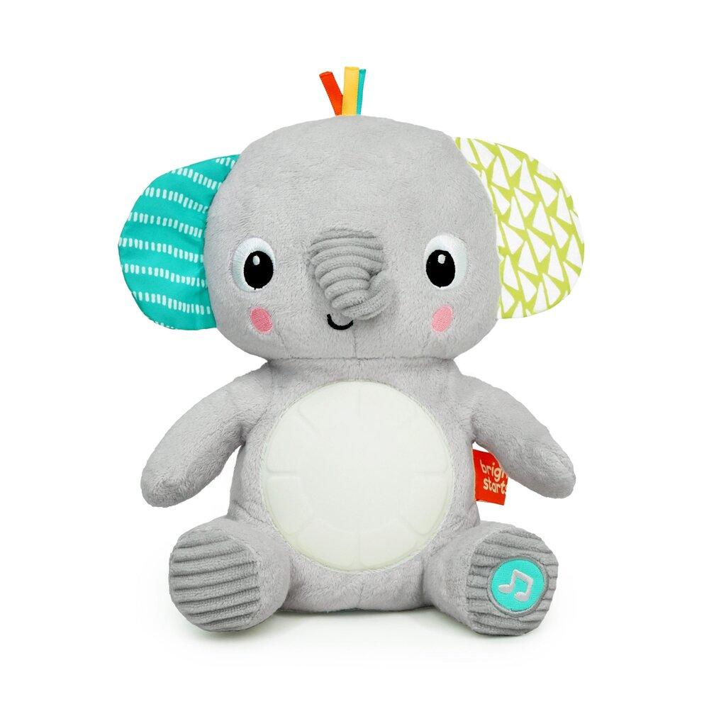 Image of Bright Starts Hug-a-bye Baby musikalsk elefant-plysdyr med lys (ee8412d5-4acd-497b-b868-f131f0af6667)