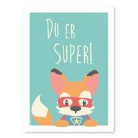 Super Ræv Plakat - A4