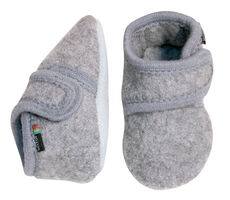 Wool Soft Shoe - Lys Grå Mel 135