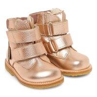 TEX-støvle med velcro - 9936 Lys Kobber