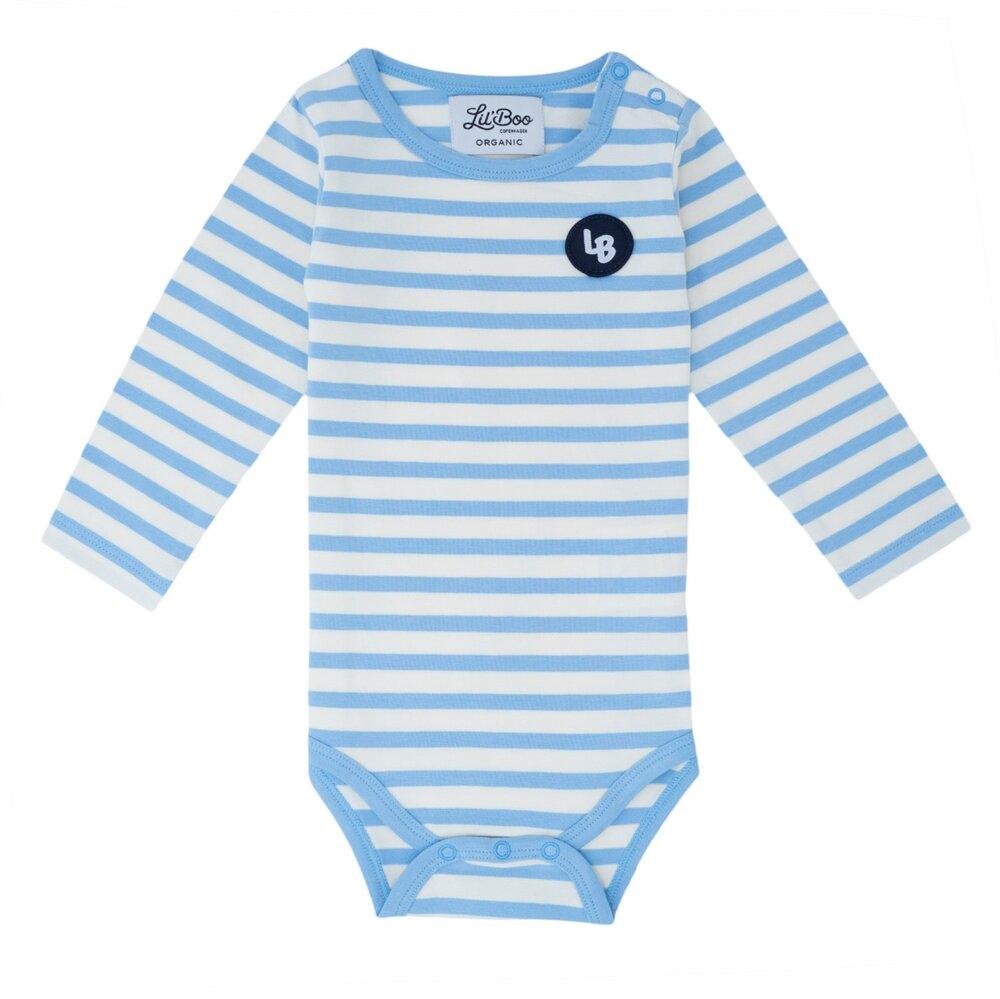 Image of Lil' Boo Classic stripes body L/S - HVID/BLÅ (8147acbb-46ee-4ec0-8790-2cfd4ede3b1b)