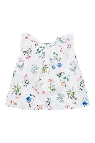 Baby flower field poplin kjole - 549
