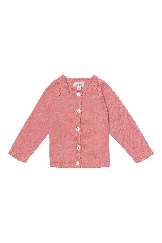 Image of Noa Noa Miniature Baby basic light knit cardigan - 800 (88c5f01f-e49c-4d0c-a8ba-9d2c814571c7)