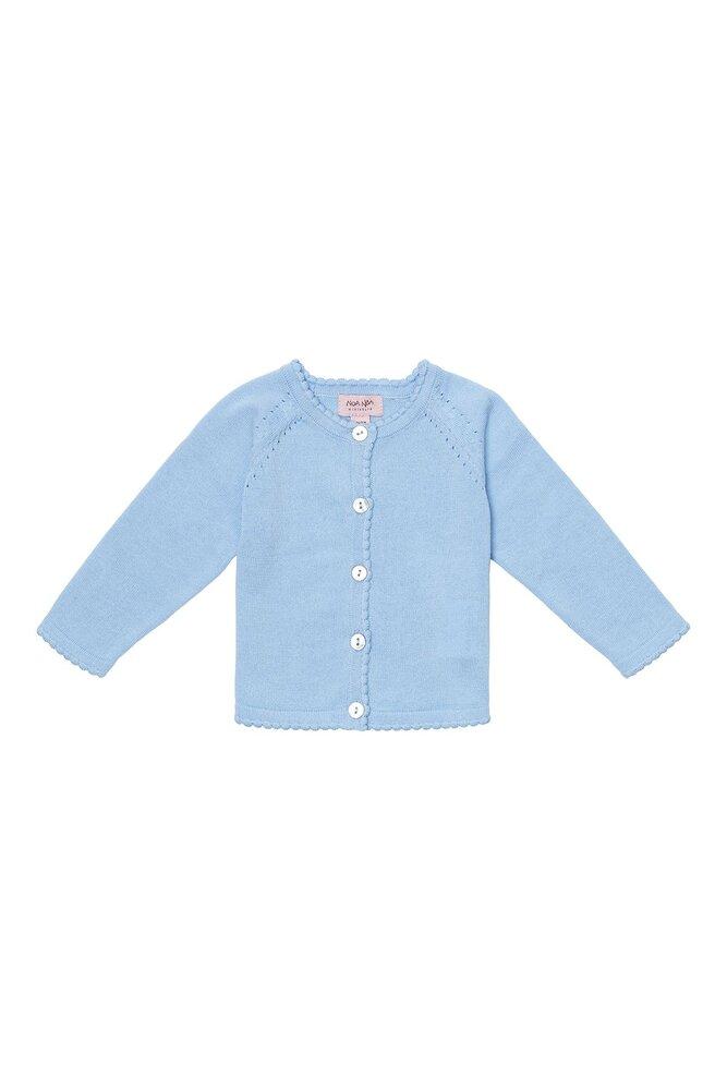 Image of Noa Noa Miniature Baby basic light knit cardigan - 1098 (aedffa85-ef93-4383-ad93-85d630b3a265)