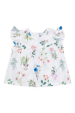 Baby flower field poplin blouse - 549