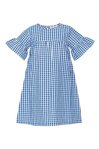 Mini blue check kjole - 477