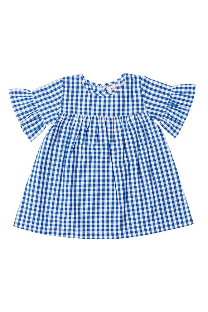 Image of Noa Noa Miniature Baby blue check kjole - 477 (316d56a6-20f2-4fad-865d-def1c3f154ca)