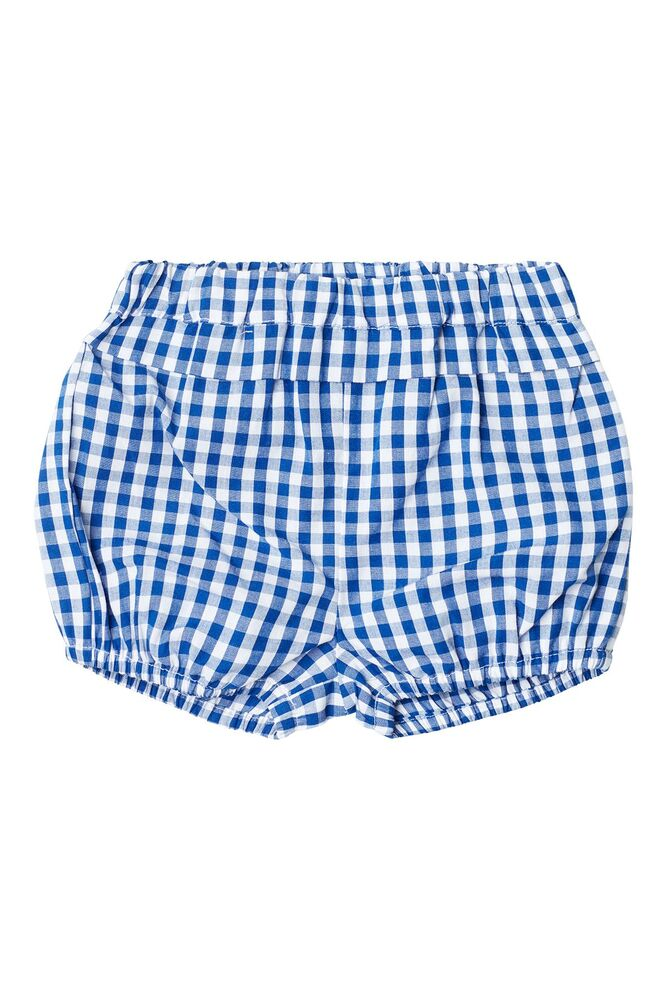 Image of Noa Noa Miniature Baby blue check shorts - 477 (ee818db1-827e-4612-a228-6842c4719d4f)