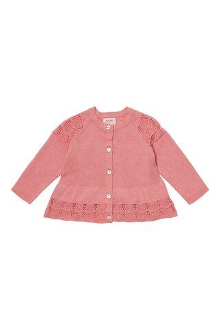 Baby scallup knit cardigan - 800