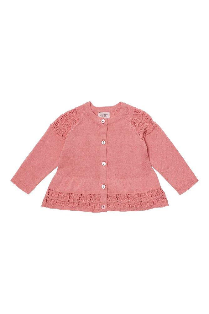 Image of Noa Noa Miniature Baby scallup knit cardigan - 800 (b733b035-45e8-48f5-9774-e154e2460479)
