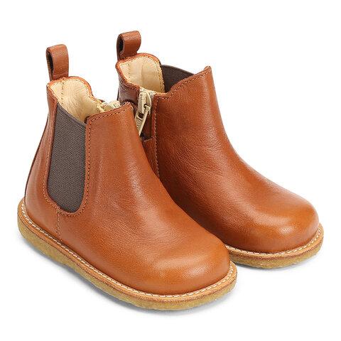 Begynder støvlet med elastik og lynlås - 9842