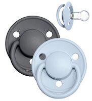 De Lux sut 2 pk silicone onesize Iron/Baby Blue