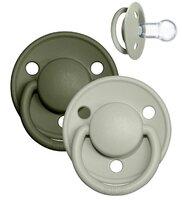 De Lux sut 2 pk silicone onesize Sage/Hunter Green