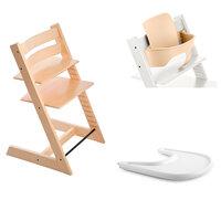 Højstol - natural inkl. babyset og tray