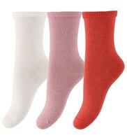 Mini 3-pak glitter ankle sokker - 841