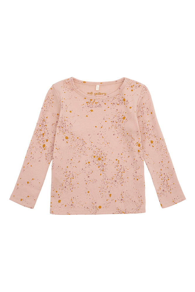 Image of Soft Gallery Baby Bella T-shirt - Peach Perfect, AOP Mini Splash Rose (0bd09644-887e-49b6-b536-45b29eb54086)