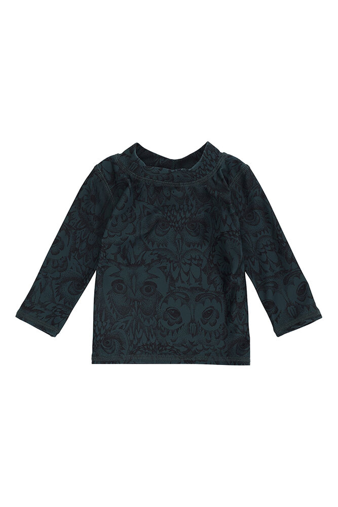 Image of Soft Gallery Baby Astin Badebluse - Orion Blue, AOP Owl (dbc2a5c6-5e9c-4422-9bb9-a30ad63b5ddf)