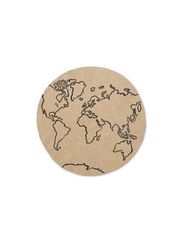 Jute tæppe - Small - World