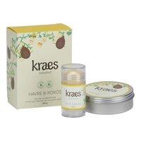 Kraes Gaveæske - babybad havre/kokos, baby balm & glade kinder