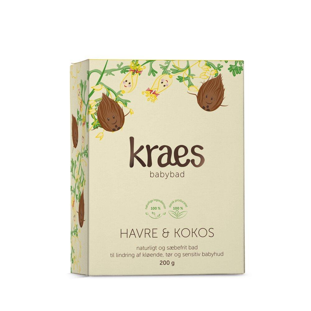 Image of Kraes Babybad med havre/kokos 200 g. (a200b303-2bd5-49bf-a8b4-09b442af17d4)