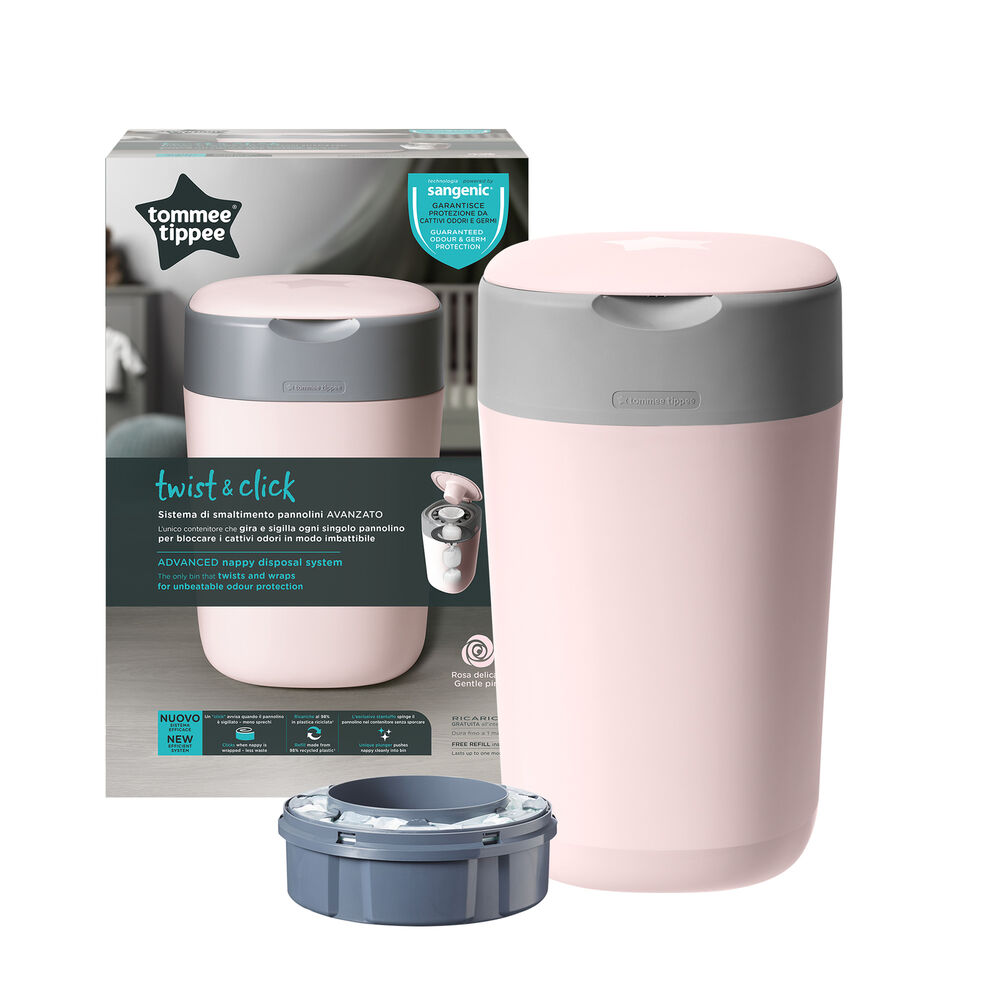 Image of Sangenic by Tommee Tippee Twist&Click Spand, Pink (ccd26670-73ab-4e87-a155-2265ae0b2009)