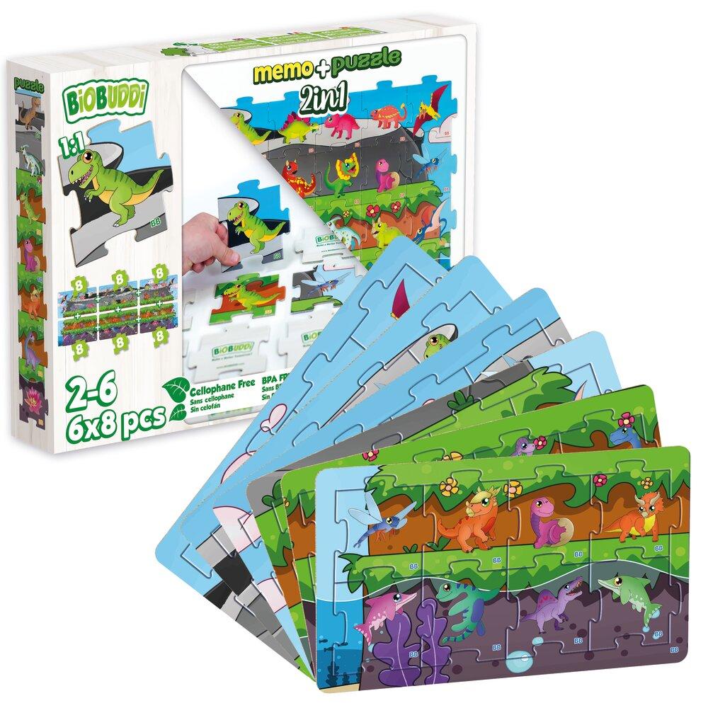BIOBUDDI Memory & Puzzle Dino
