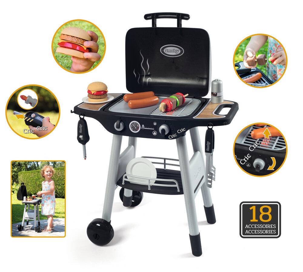 Image of Smoby BBQ Grill m/18 dele (b63a9eb7-6834-4deb-9d9f-adc24dba666b)