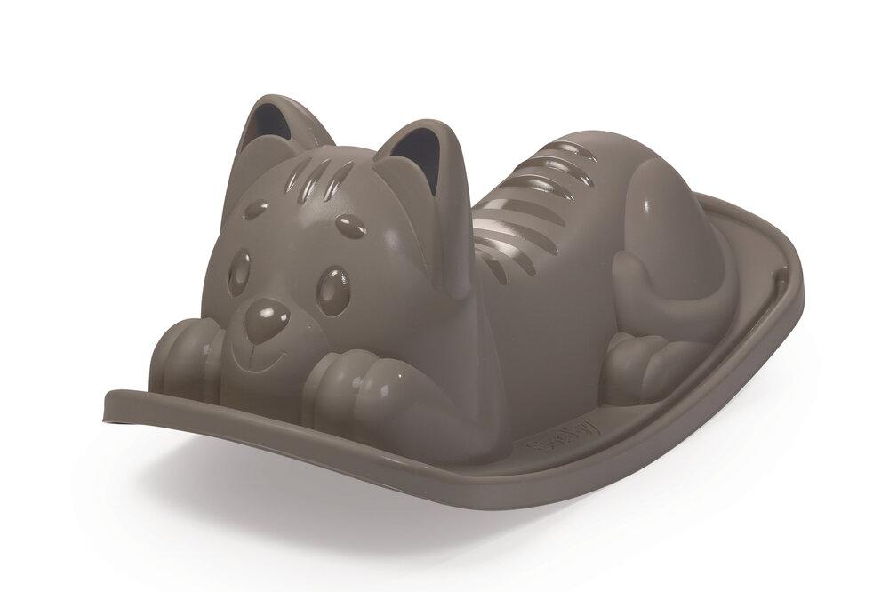 Image of Smoby Vippe i plast - grå kat (5ad19baf-f747-4015-a05f-14985fa7a05c)