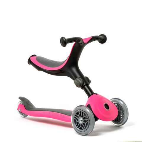 4-in-1 foldbart scooter, pink