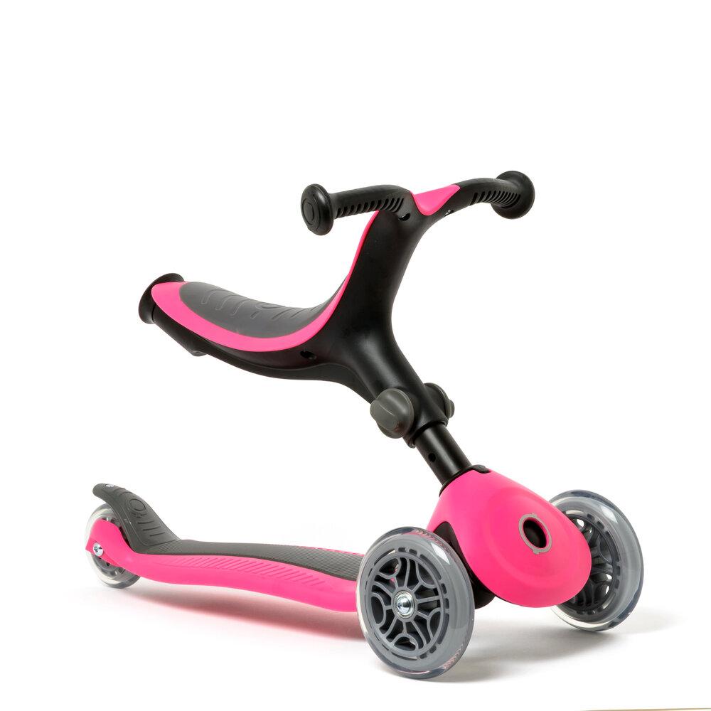 Image of Oxybul 4-in-1 foldbart scooter, pink (6d546dbc-607f-4f47-b43f-8109fcba1a03)