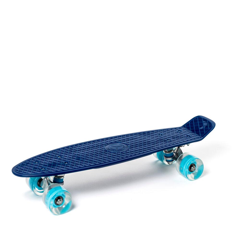 Oxybul Skateboard med lys i hjulene, blå