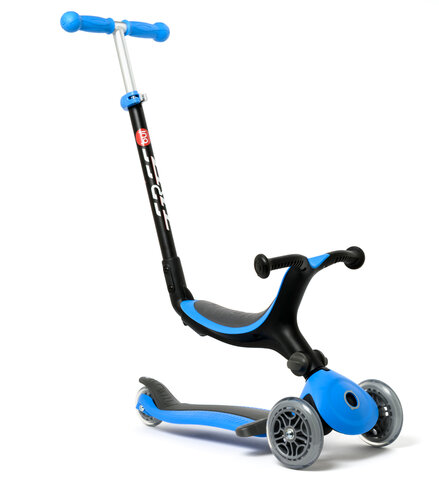 4-in-1 foldbar scooter, blå