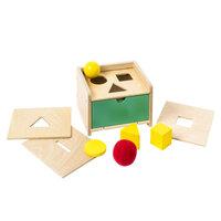 Puttekasse med Montessori-dele