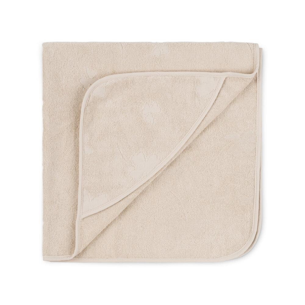 Image of That´s Mine Badehåndklæde med hætte kløver-Almond milk (e7530b21-036a-4179-841c-96e554065fa4)