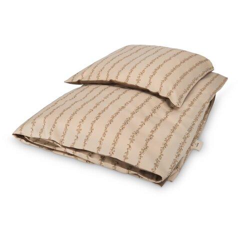 Sengetøj baby - Leaves stripe
