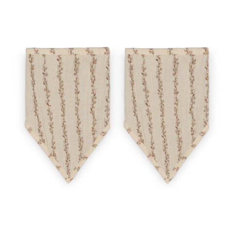 Bandana hagesmæk - Leaves stripe