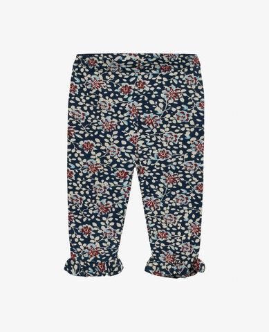 Baby blue flower jersey leggings - 464