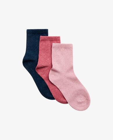 Mini 3-pack glitter ankle sock strømper - 841