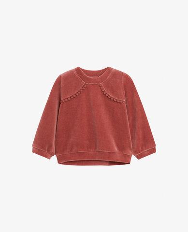 Baby velvet jersey sweatshirt - 1017