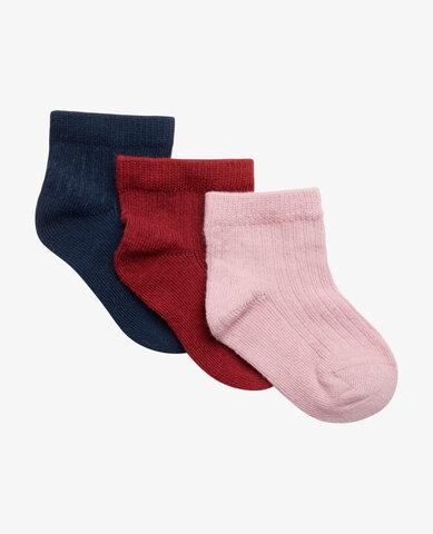 Baby 3-pack ankle sock strømper - 841