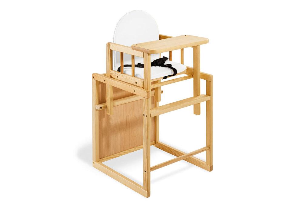 Image of Pinolino Kombi-højstol, Nele/klar lak (ddf20867-6fac-48dd-8cf9-44b5a57587eb)