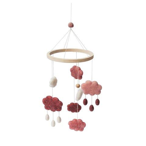 Uro i filt, skyer, cotton candy pink