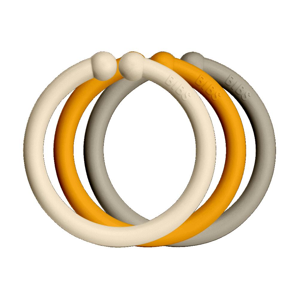 BIBS Loops 12 PACK Ivory/Honey Bee/Sand