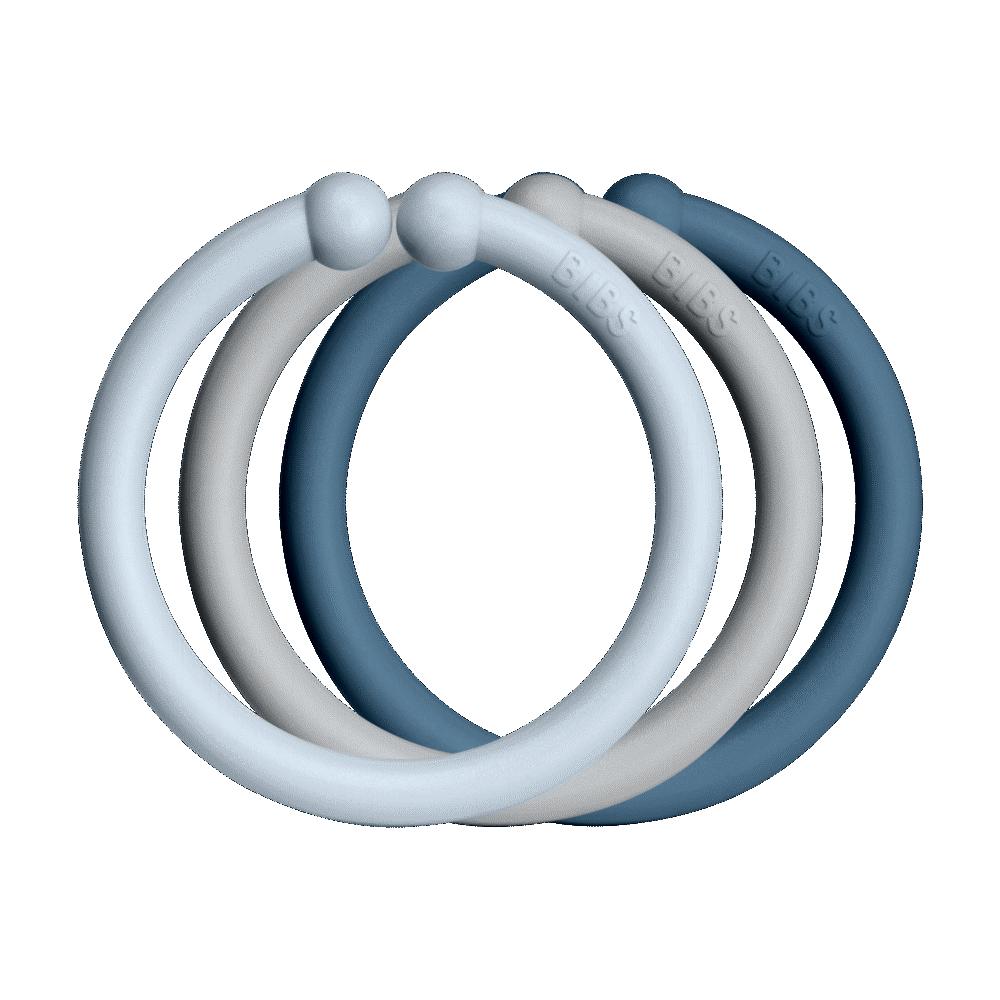 BIBS Loops 12 PACK Baby Blue/Cloud/Petrol