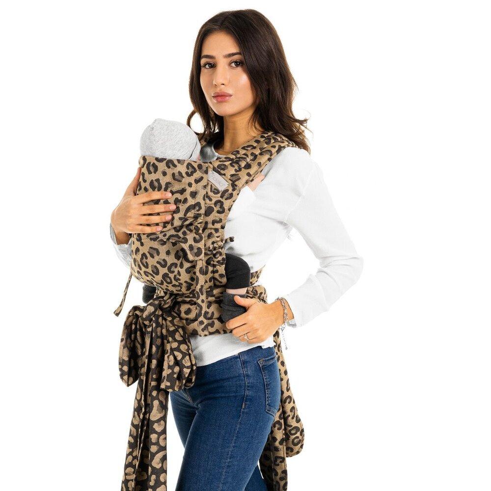 Image of FIDELLA Fly Tai - Mei Tai leopard/gold - Baby (4b60644d-6a8e-4c4a-bf24-4420e296cd39)