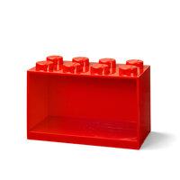 Opbevarings hylde 8 knop rød
