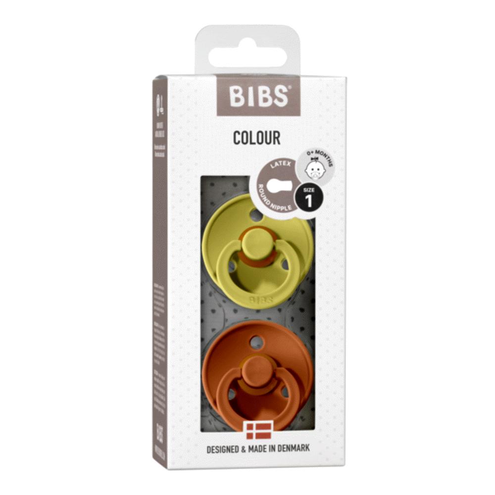 Image of BIBS Colour 2 PACK Latex Size 1 Meadow/Earth (6acbdb2f-d289-4456-b3a9-c357e6debd6b)