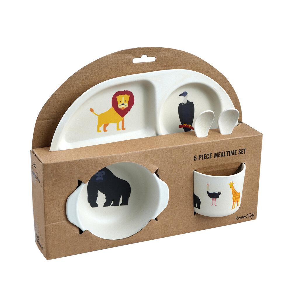 Image of Barbo Toys Safari - spisesæt 5 dele (562a3ece-9a6c-4b8e-bbf9-f95fe2486748)