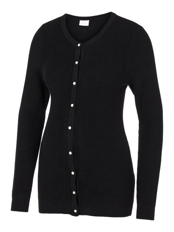 Serenity l/s knit cardigan - BLACK